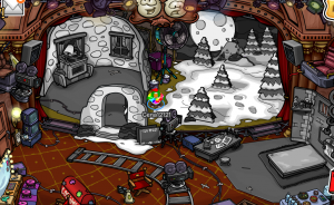 Night of the Living Sled october 2014 300x184 New Club Penguin Night of the Living Sled Play Cheats: October 2014!