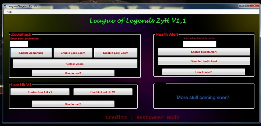 League of Legends Hile Multihack ZyH V1.1 indir