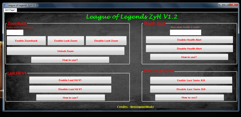 League of Legends ZyH V1.2 Hilesi indir