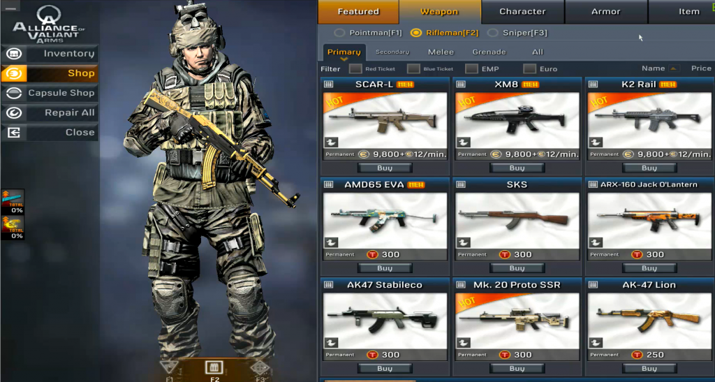 Alliance of Valiant Arms (AVA) Hile Skin Ak-47 Mk.3 To Ak-47 Gold Nobility