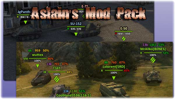 Aslain's XVM Mod 9.15.1.1 v.12 World Of Tanks Hile