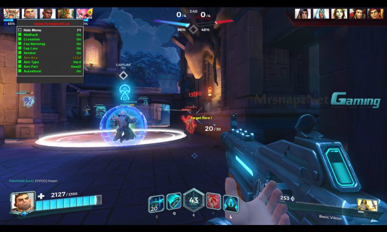 how to change crosshair in paladins