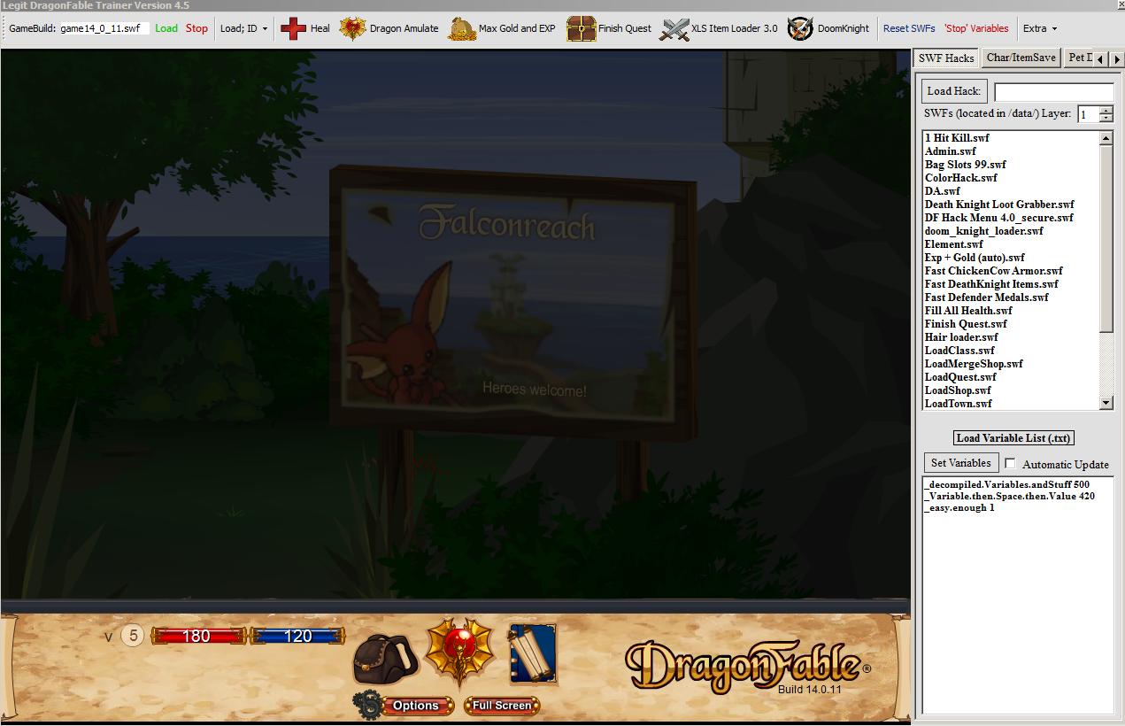 dragonfable doomknight loader