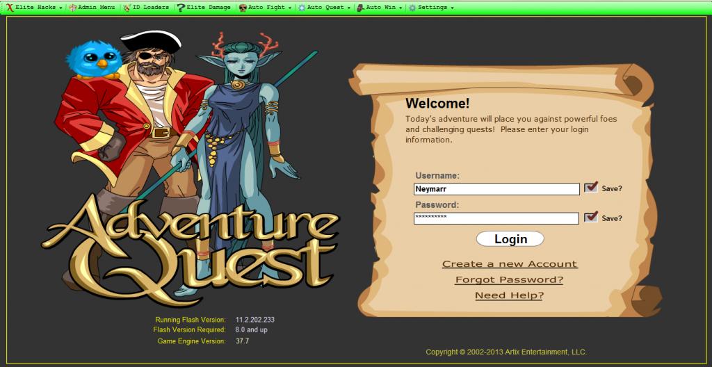 Adventure Quest Hileleri Elite Lore 37 beta 2