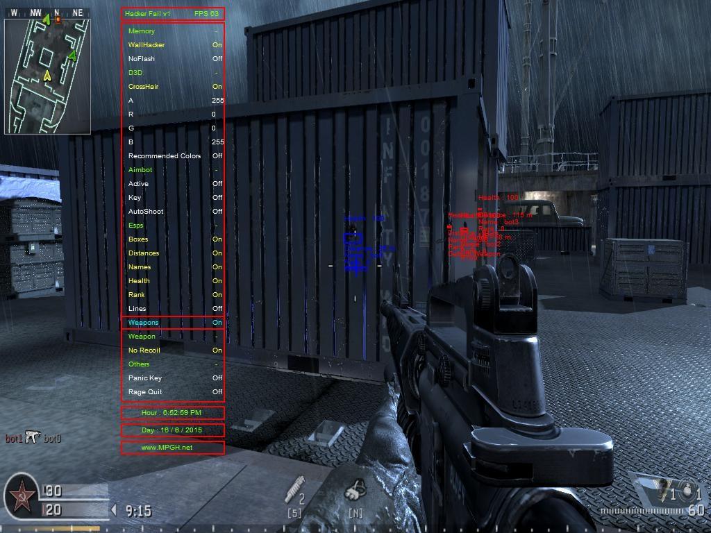 Call of Duty 4 Hileleri Aimbot ESPs Wallhack