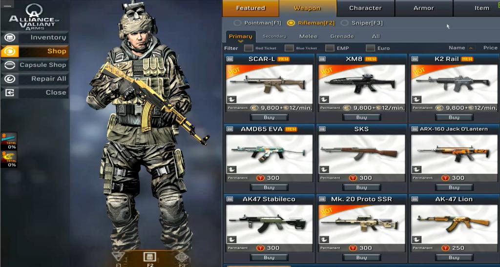 Alliance of Valiant Arms (AVA) Hile Skin Ak-47 Mk.3 To Ak-47 Gold Nobility