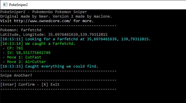 Pokemon Go Hile Sniper Bot Yeni V2.1.1 Son Sürüm