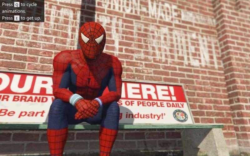 Spiderman 1.1 Gta 5 Hile Örümcek Adam Modu indir