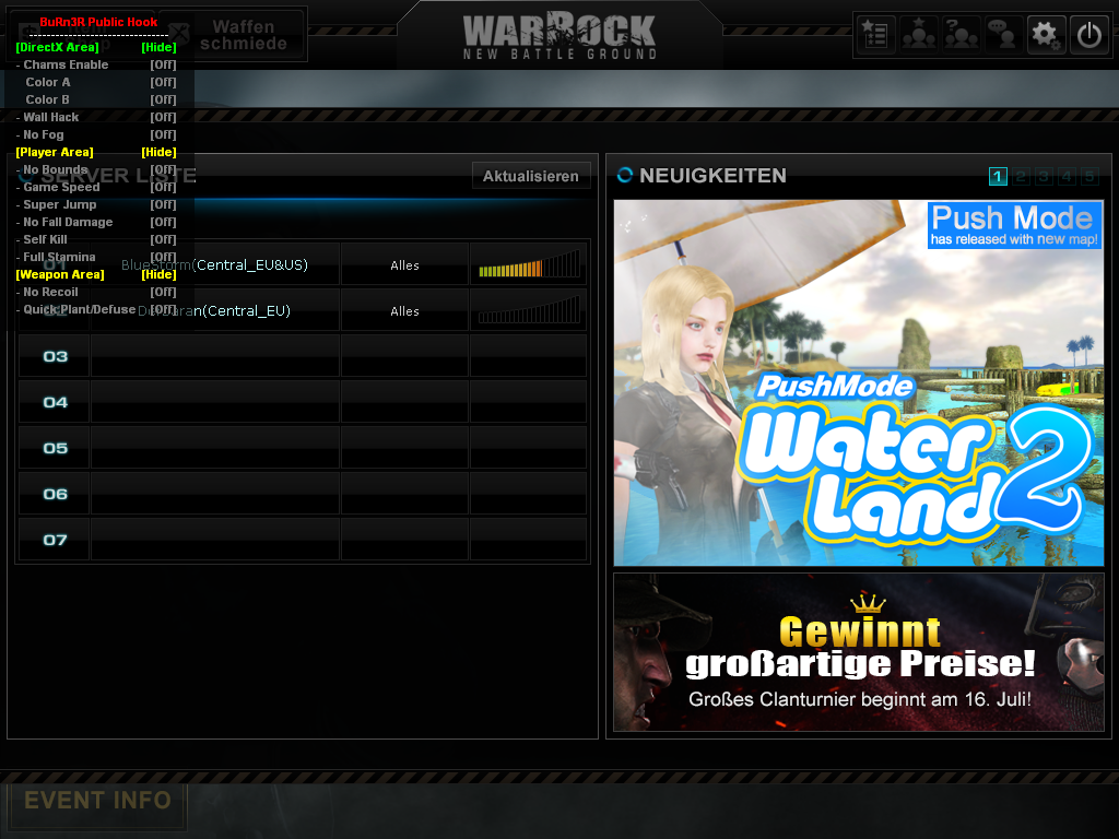 WarRock Hile BuRn3R Public Hook Version 3.5 indir