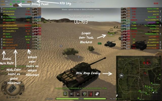 World Of Tanks Hileleri KISS Interface. XVM for 9.15.1
